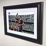 Signed Black Soccer Neymar Jr Barcelona Autographed Photo Photograph Picture Frame Gift SM