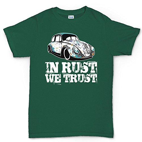 CP Mens In Rust We Trust VW RAT Beetle Hot Rod T-shirt