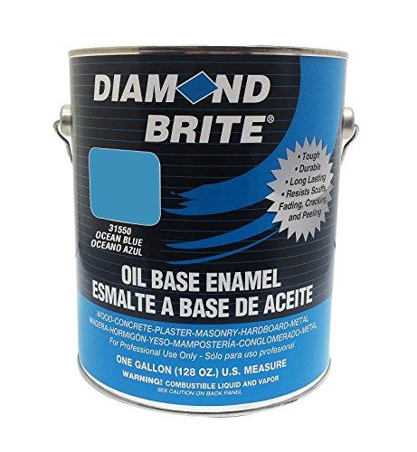 Diamond Brite Paint 31550 1-Gallon Oil Base All Purpose Enamel Paint   Ocean Blue (Diamond Ocean Blue)