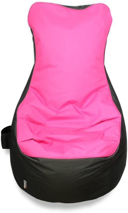 kissenwelt.de Sitzsack Sessel In//Outdoor Sitzsack- Made in Germany L70 x B65 x H90 cm Polyester Rosa//Grau