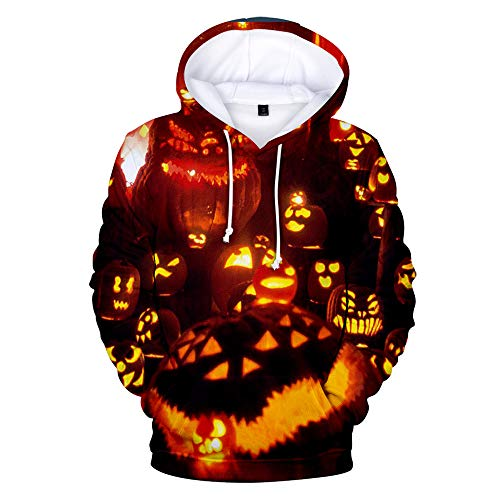 FengZhuo 2019 Halloween 3D Digital Color Print Turtleneck Sweater C L