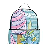 Best EcoCity Backpack For Hikings - School Backpack Popsicle Hello Summer Print Travel Leisure Review