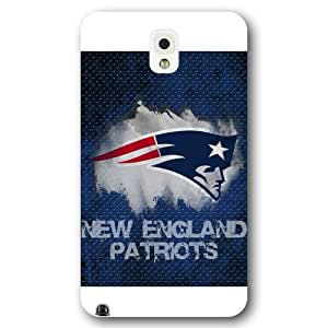 UniqueBox Customized NFL Series Case for Samsung Galaxy Note 3, NFL Team New England Patriots Logo Samsung Galaxy Note 3 Case, Only Fit for Samsung Galaxy Note 3 (White Frosted Shell)
