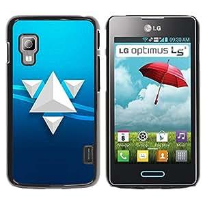 Be Good Phone Accessory // Dura Cáscara cubierta Protectora Caso Carcasa Funda de Protección para LG Optimus L5 II Dual E455 E460 // Triangle Art