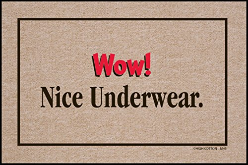HIGH COTTON Wow! Nice Underwear Indoor/Outdoor Doormat - Nice Underwear Door Mat