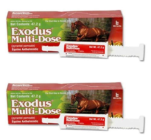 (47.2gm Strongid Exodus Multi Dose Equine Paste Pyrantel Parasite Pamoate Wormer Bulk (2 Pack))