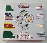 Brandani: ''Pizza Nation'' Set of 4 Pizza Plates [ Italian Import ]