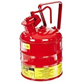 Justrite 10301 Type 1 Safety Can Red, 1 Gallon