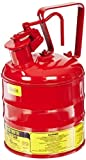 Justrite 10301 Type I Steel Flammables Safety Can, 4L Capacity, Red