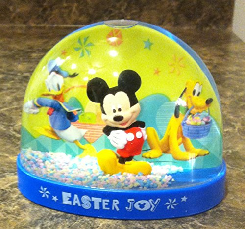 Disney Mickey Mouse Pluto Mini Easter Snowglobe - Mouse Snowglobe Mickey