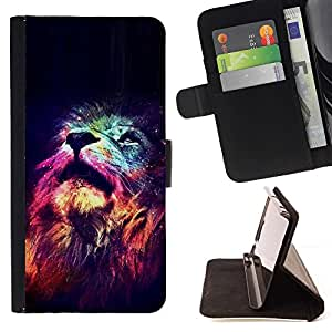 For Samsung Galaxy Note 4 IV Lion Universe Stars Africa King Animal Style PU Leather Case Wallet Flip Stand Flap Closure Cover