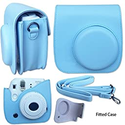 Fujifilm Instax Mini 8 (Blue) Deluxe kit bundle Includes: - Instant camera with Instax mini 8 instant films (40 pack) - A MASSIVE DELUXE BUNDLE