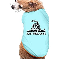 Dog Cat Pet Shirt Clothes Puppy Vest Soft Thin Dont Tread On Me 3 Sizes 4 Colors Available