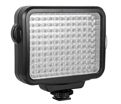 Khalia-Foto Video-Flächenleuchte 120 LED-5009 + Akku 2200mAh + Ladegerät für Spiegelreflexkameras und Camcorder