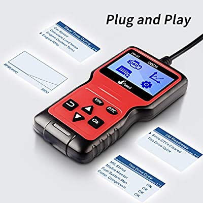 Foseal OBD2 Code Reader, OBD 2 Scanner Professional Enhanced Universal Car Automotive Check Engine Light Error Analyzer Auto CAN Vehicle Diagnostic Scan Tool for OBDII Protocol Cars Since 1996: Automotive