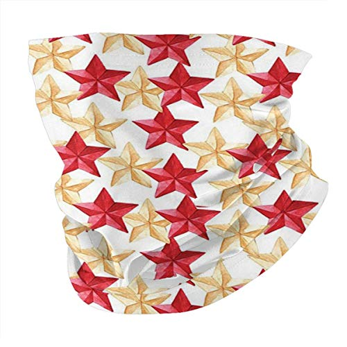 Outdoor Headband House Decor Collection Christmas Tree Decoration Themed Star Pattern Military Style Gold Red Sketch… 1