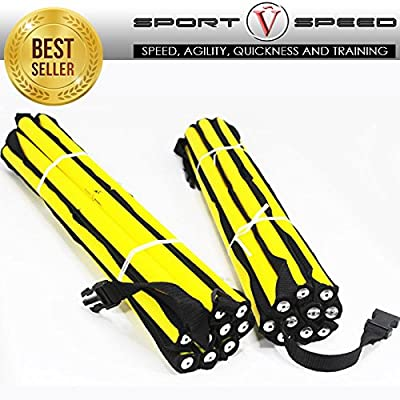 (Two) NO CHEAT - Agility Ladders Round Rung Team Grade Heavy Duty with Free Carry Bag
