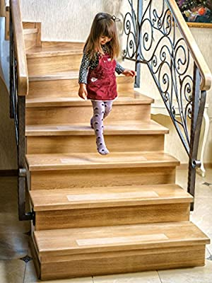 "Kenley Non-Slip Stair Treads - 10 Pack Clear Step Strips 4""x24"" Indoor & Outdoor - Anti-Slip Floor Vinyl Safety Grip Tape with Adhesive for Steps & Stairs - Fall Risk Prevention for Dogs Kids Elderly"