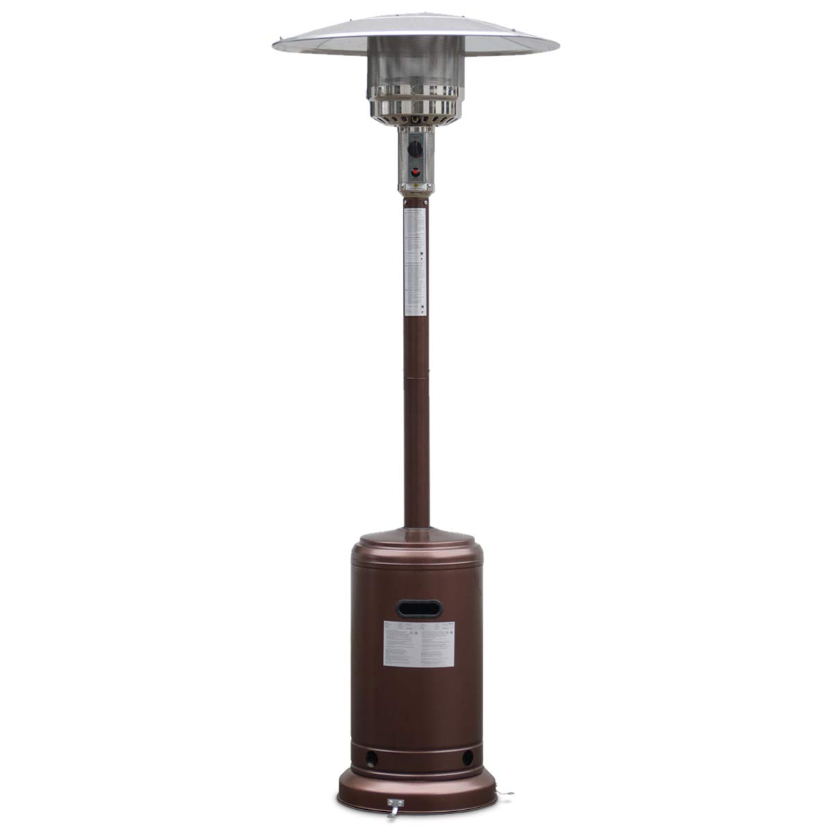 Giantex Steel Outdoor Patio Heater Propane Lp Gas W/Accessories (Bronze) by Giantex