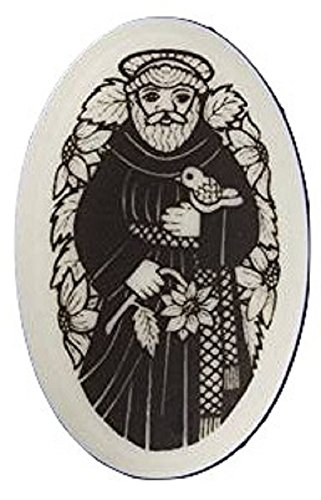 (Porcelain Hand Crafted St. Francis Pendant)