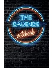 The CADENCE Notebook: Vintage Blank Ruled Personalized & Custom Neon Sign Name Dotted Notebook Journal for Girls & Women. Wall Background. Funny Desk Accessories. Retro Back To School & Office Supplies, Birthday, Christmas Gift for Women.