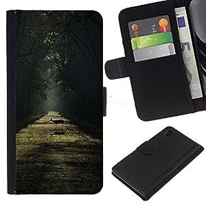 A-type (Rain Summer Sunshine Sun Road) Colorida Impresión Funda Cuero Monedero Caja Bolsa Cubierta Caja Piel Card Slots Para Sony Xperia Z4v / Sony Xperia Z4 / E6508