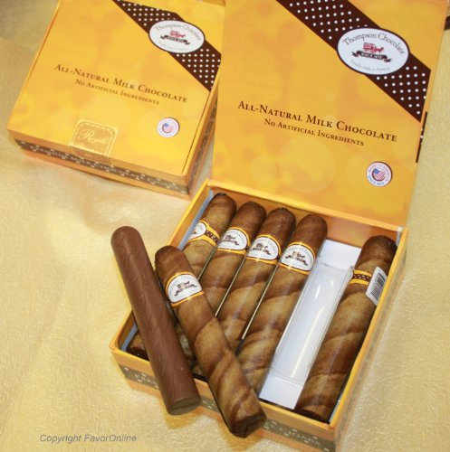 (Royale Chocolate Cigars in Cigar Box  pack of 12)