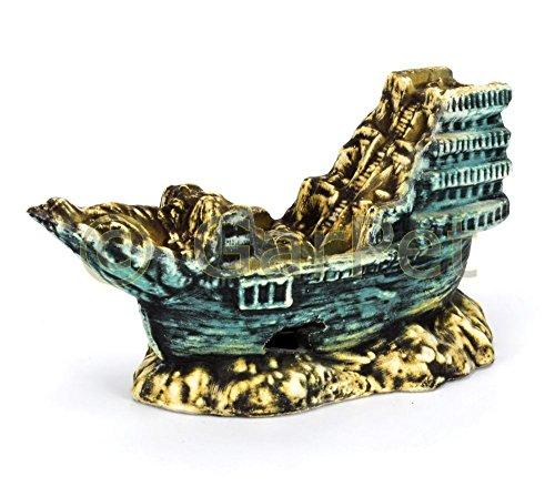 Aquarium Deko versunkenes Schiffswrack Schiff Segel Boot Wrack Dekoration