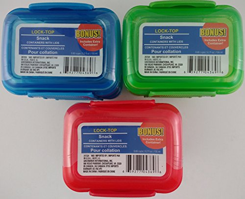 Mini Lock Top Snack Containers colors product image