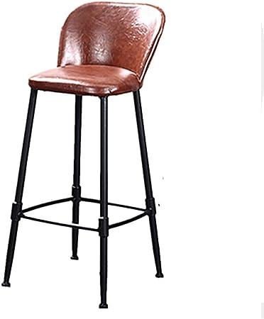 Xing Zi Stool Chaise De Bar En Cuir Vintage Tabouret En Pu