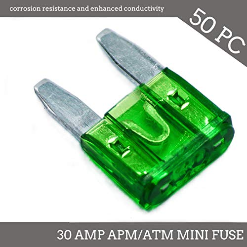 30a Mini Blade Fuse - Deepa 50 Pack 30 AMP APM/ATM 32V Mini Blade Style Fuses 30A Short Circuit Protection Car Fuse