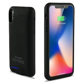 Xnuoyo Funda Cargador 4000mAh Recargable Funda de Batería Externa Cargador Portátil Protector Estuche de Carga Extended Battery Charging Case, Backup ...