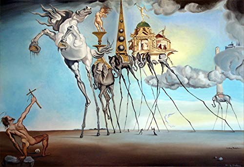 Mile High Media Salvador Dali Canvas Poster Temptation of St Anthony 13x19 Inch Color Print