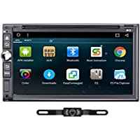 TOCADO GPS Navigation Car Stereo Android 6.0 2DIN 7 In Dash DVD Player with Bluetooth GPS RDS Radio AV-IN + Backup Camera