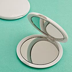 60 Perfectly Plain Collection Mirror Compact Favors