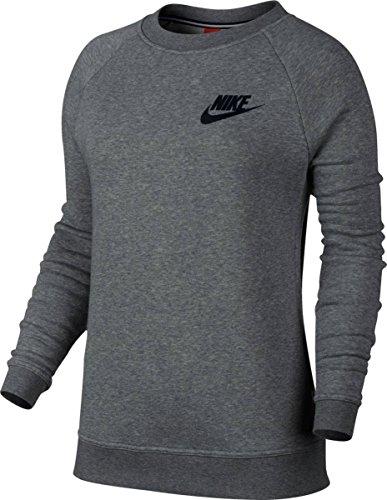 Nike W Nsw Rally Crw Kvinners Atle-gensere 826662 Karbon Lyng / Mørk Grå