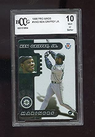8f5eee8e90 1998 Pro Mags Refridgerator Magnets Ken Griffey Jr. Graded Baseball Card  BCCG 10 at Amazon's Sports Collectibles Store