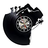 Decorative Unique Vinyl Record Wall Clock Gift for Climbers Review