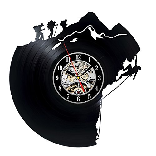 Decorative Unique Vinyl Record Wall Clock Gift for Climbers
