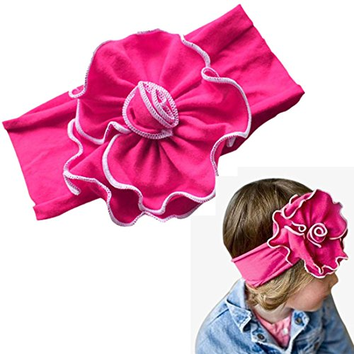 Magenta Baby Girl Flower Headband Hair Band (Unique Baby Headbands)