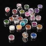 Eyeshadow&Nail Glitter 30Pcs/Set Colors Mixed