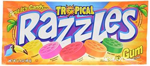 Razzles, Tropical, 33.8-Ounce Packages (Pack of 24)