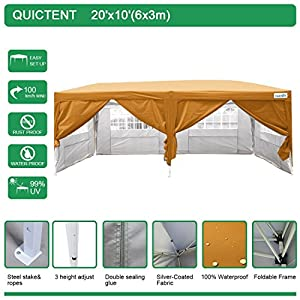 10. Quictent Waterproof EZ Pop Up Canopy Gazebo Party Tent
