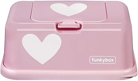 Funkybox FB06 Cajita para Toallitas Húmedas, Rosa (Diseño Pink Heart): Amazon.es: Bebé