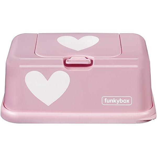 Rosa Dise/ño Pink Heart Funkybox FB06 Cajita para Toallitas H/úmedas