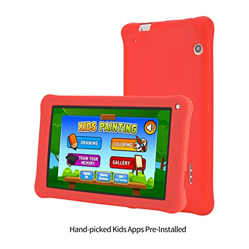 AOSON M753-S1 7 Inch kids Tablet PC, Android 7.1 Nougat Quad-core Processor, IPS HD Touch Screen, 1GB RAM 16GB Storage, Kids APPS Iwawa Kidoz Dual Camera Bluetooth Wi-Fi Supported, GMS Certificated by Aoson (Image #1)