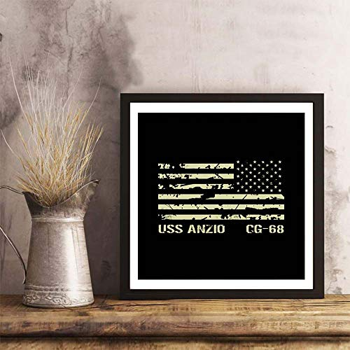 i-zehibho-i Wall Art - USS Anzio Fashion Decor Art Print - 12x12in with Frame