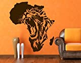Wall Decal No.CG135 The Heart of Africa | wall tattoo wall tattoos wall stickers | Color: Gold; Dimensions: 53.5 x 48 inches