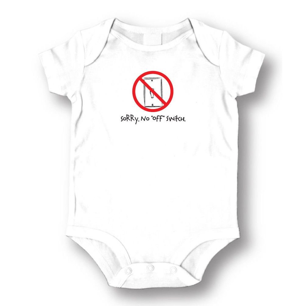 Dustin clothing series Sorry No Off Switch Baby Boys Girls Toddlers Funny Romper 0-24M