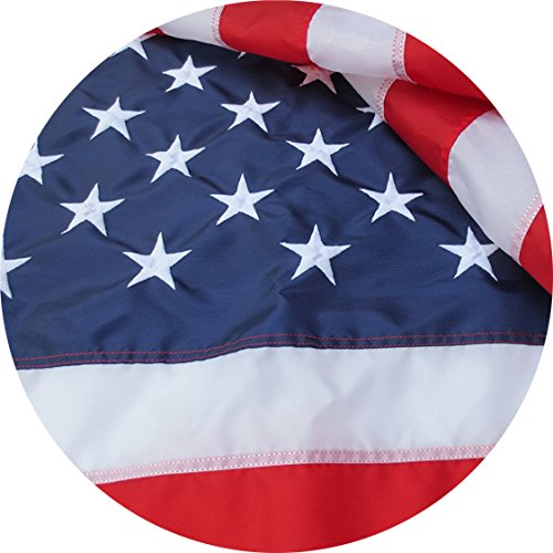 American Flag Embroidered 3x5 ft 100% Made in USA by Sietrip:Extremely Strong 420D Oxford Nylon Embroidered Stars Sewn Stripes,Sturdy Brass Grommets,Indoor/Outdoor, Withstands Tough Weather and Wind from Sietrip
